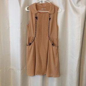 Tan & Black Dress (with pockets!)
